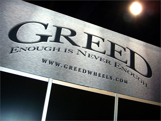 Greed is good at SEMA, though with the economy failing...maybe not so much. Drivethrulife.com