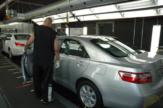 Camry in production. Photo courtesy of Toyota
